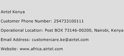 Airtel Kenya Phone Number Customer Service