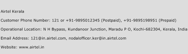 Airtel Kerala Phone Number Customer Service