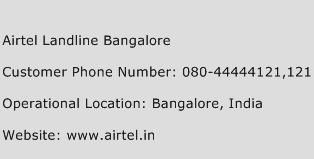 Airtel Landline Bangalore Phone Number Customer Service