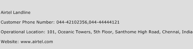 Airtel Landline Phone Number Customer Service