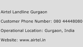 Airtel Landline Gurgaon Phone Number Customer Service