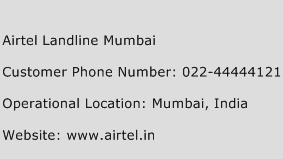 Airtel Landline Mumbai Phone Number Customer Service