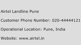 Airtel Landline Pune Phone Number Customer Service