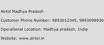 Airtel Madhya Pradesh Phone Number Customer Service