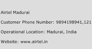 Airtel Madurai Phone Number Customer Service