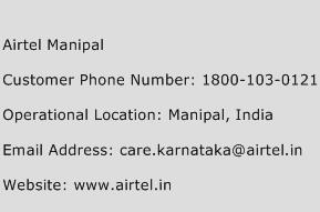 Airtel Manipal Phone Number Customer Service