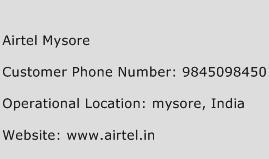 Airtel Mysore Phone Number Customer Service