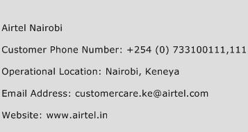 Airtel Nairobi Phone Number Customer Service