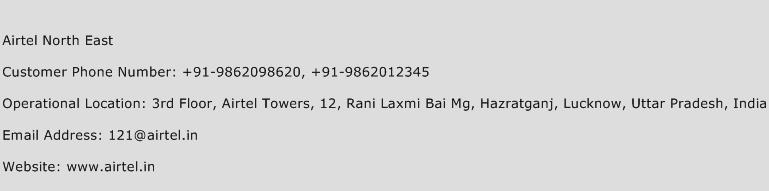 Airtel North East Phone Number Customer Service