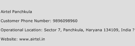 Airtel Panchkula Phone Number Customer Service