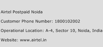 Airtel Postpaid Noida Phone Number Customer Service
