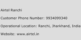 Airtel Ranchi Phone Number Customer Service