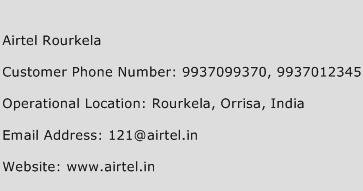 Airtel Rourkela Phone Number Customer Service