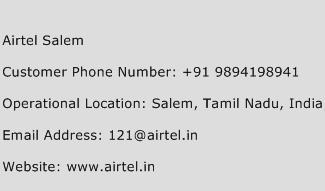 Airtel Salem Phone Number Customer Service