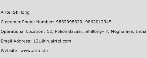 Airtel Shillong Phone Number Customer Service