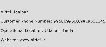 Airtel Udaipur Phone Number Customer Service