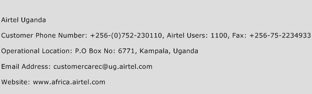Airtel Uganda Phone Number Customer Service