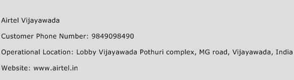 Airtel Vijayawada Phone Number Customer Service