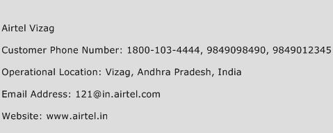 Airtel Vizag Phone Number Customer Service
