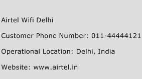 Airtel Wifi Delhi Phone Number Customer Service