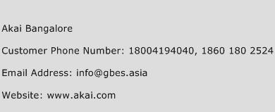 Akai Bangalore Phone Number Customer Service