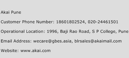 Akai Pune Phone Number Customer Service