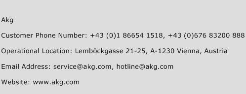 Akg Phone Number Customer Service