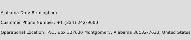 Alabama Dmv Birmingham Phone Number Customer Service