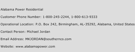 Alabama Power Residential Phone Number Customer Service