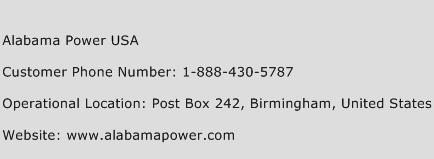 Alabama Power USA Phone Number Customer Service