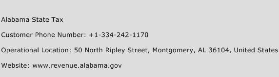 Alabama State Tax Phone Number Customer Service
