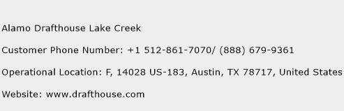 Alamo Drafthouse Lake Creek Phone Number Customer Service