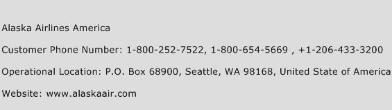 Alaska Airlines America Phone Number Customer Service
