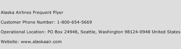 Alaska Airlines Frequent Flyer Customer Service Number