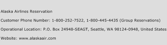 Alaska Airlines Reservation Number Alaska Airlines