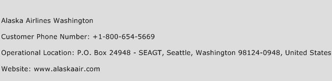 Alaska Airlines Washington Phone Number Customer Service