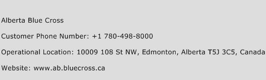 Alberta Blue Cross Phone Number Customer Service