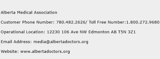 Alberta Medical Association Phone Number Customer Service