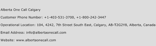 Alberta One Call Calgary Phone Number Customer Service