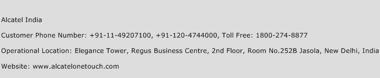 Alcatel India Phone Number Customer Service