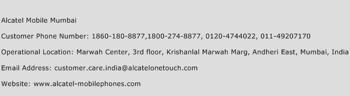 Alcatel Mobile Mumbai Phone Number Customer Service