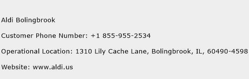 Aldi Bolingbrook Phone Number Customer Service