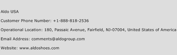 Aldo USA Phone Number Customer Service