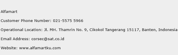 Alfamart Phone Number Customer Service