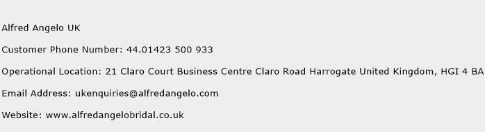Alfred Angelo UK Phone Number Customer Service