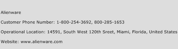 Alienware Phone Number Customer Service