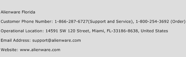 Alienware Florida Phone Number Customer Service