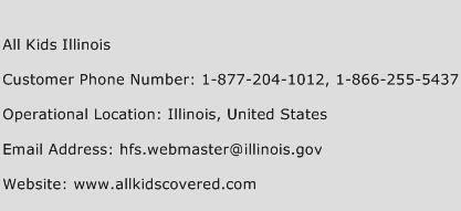 All Kids Illinois Phone Number Customer Service