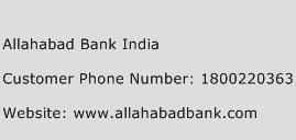 Allahabad Bank India Phone Number Customer Service