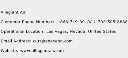 Allegiant Air Phone Number Customer Service